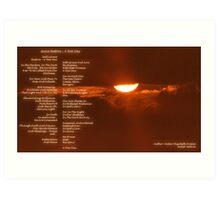 Grace Restore ~ A New Day Version 2 Art Print