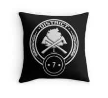District 7 - Lumber Throw Pillow