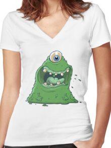 Laaaaaa! Women's Fitted V-Neck T-Shirt