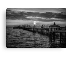 Sunset Black and White Canvas Print