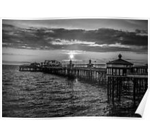Sunset Black and White Poster