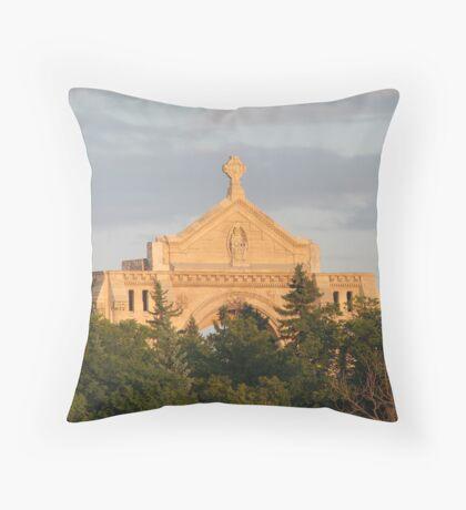St. Boniface Cathedral Winnipeg Throw Pillow