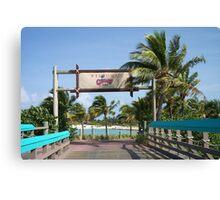 Castaway Cay Bridge Canvas Print