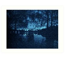 Nightly View and Reflections Art Print