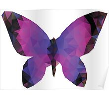 Polygonal Butterfly Poster