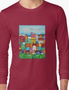 Town and Birds Long Sleeve T-Shirt