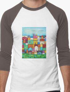 Town and Birds Men's Baseball ¾ T-Shirt