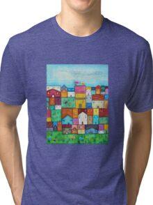 Town and Birds Tri-blend T-Shirt