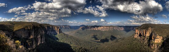 Grose Valley from Govetts Leap lookout Blue Mountains Revisited by DavidIori