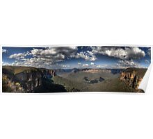 Grose Valley from Govetts Leap lookout Blue Mountains Revisited Poster