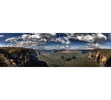 Grose Valley from Govetts Leap lookout Blue Mountains Revisited Photographic Print