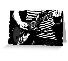 guitar solo 3 Greeting Card