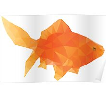 Polygonal Gold Fish Poster