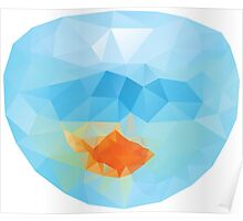Polygonal Gold Fish 2 Poster