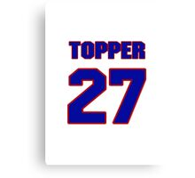 National football player Topper Clemons jersey 27 Canvas Print