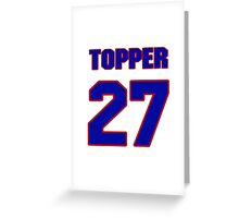 National football player Topper Clemons jersey 27 Greeting Card