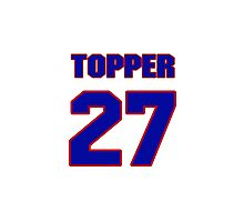 National football player Topper Clemons jersey 27 Photographic Print