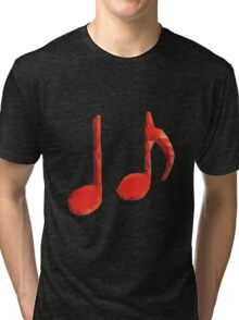 Polygonal Music Notes Tri-blend T-Shirt