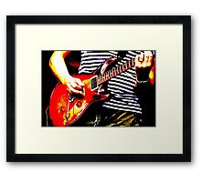 Guitar solo 4 Framed Print