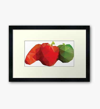 Polygonal Vegetables Framed Print
