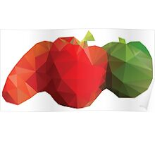 Polygonal Vegetables Poster