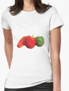 Polygonal Vegetables Womens Fitted T-Shirt