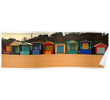 Beach Box Pano Poster