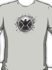 S.H.I.E.L.D Emblem (in gray with white background) T-Shirt