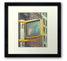 Traffic Light, New York City Framed Print