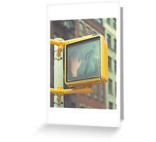 Traffic Light, New York City Greeting Card