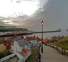 Whitby Harbour, from the 199 Steps by dougie1