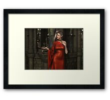 Mistres of Potions - Red Framed Print