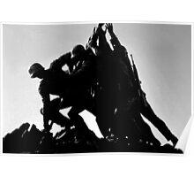 Iwo Jima 5BW watercolor Poster