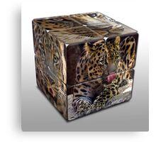 Leopard Cube Canvas Print