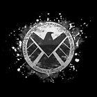 S.H.I.E.L.D Emblem (black background) by nikkiandkatie