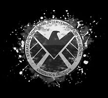 S.H.I.E.L.D Emblem (black background) by nikkiandkatie
