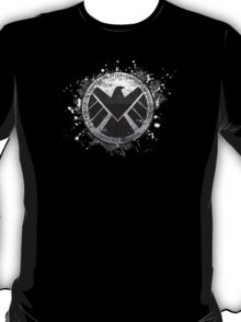 S.H.I.E.L.D Emblem (black background) T-Shirt