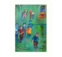 Walking in the Flood Art Print