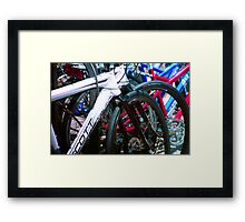Bicycle shapes Framed Print