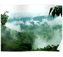 Coffee Land in the clouds, Puriscal, Costa Rica Poster