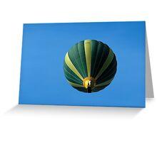 Hot Air Balloon Above Wetton  Greeting Card