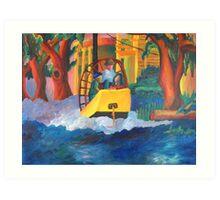 Boating in the Oaks Art Print