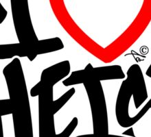 I Love Atheists (blk) by Tai's Tees Sticker