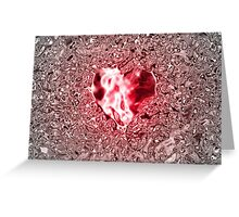 Rose Rubin Heart in rosely-silver water Greeting Card