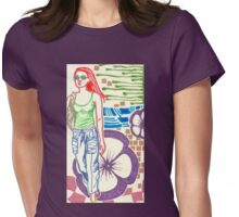 redhead with flower Womens Fitted T-Shirt