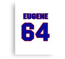 National football player Eugene Amano jersey 64 Canvas Print