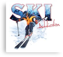 Ski Addiction Canvas Print