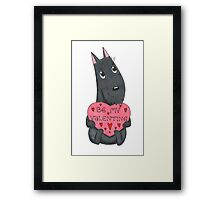 Be my Valentine?! Framed Print