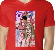 girl in glasses Mens V-Neck T-Shirt