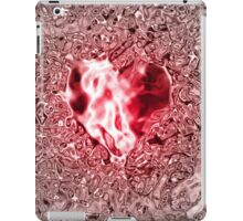 Rose Heart in rosely-silver water iPad Case/Skin